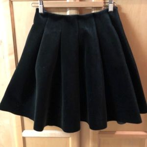LC Runway Black Velvet Skirt